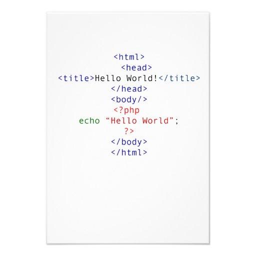 Saludo del PHP del friki Anuncio Personalizado