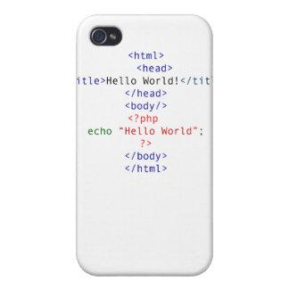 Saludo del PHP del friki iPhone 4/4S Carcasas