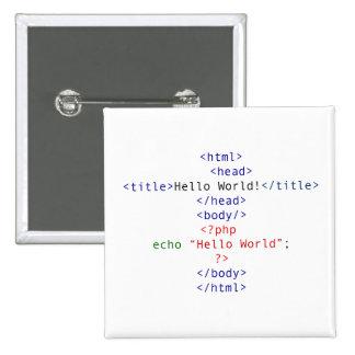 Saludo del PHP del friki Pin