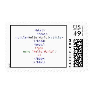 Saludo del PHP del friki Franqueo