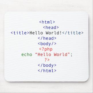 Saludo del PHP del friki Alfombrilla De Raton