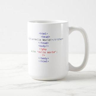 Saludo del PHP del friki Tazas