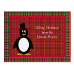 Saludo del pingüino tarjeta postal