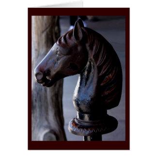 Saludo del poste que engancha de Horsehead Tarjeta De Felicitación