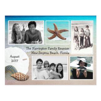 Saludo del Seashell de la Multi-foto de las Tarjeta Postal
