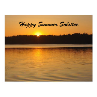 Saludo del solsticio de la puesta del sol postales