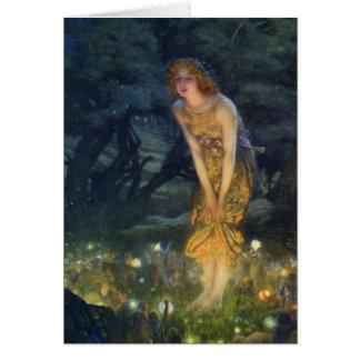 Saludo del solsticio de verano de la bella arte de tarjeta