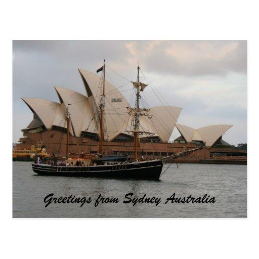 Saludo del teatro de la ópera de Sydney Postales