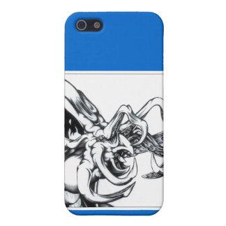 Saludo del tentáculo iPhone 5 fundas