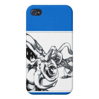 Saludo del tentáculo iPhone 4 fundas