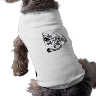Saludo del tentáculo camisetas de perrito