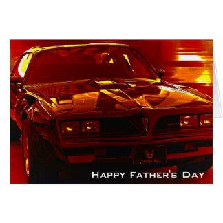 Saludo del transporte del día de padre tarjeta de felicitación
