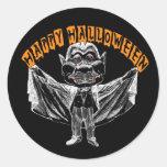 Saludo del vampiro etiqueta