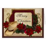 Saludo del vaquero de las Felices Navidad (vaquera Tarjeton