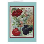 saludo del vintage de los jardineros tarjeta pequeña
