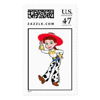 Saludo derecho de la vaquera de Toy Story Jesse Estampillas