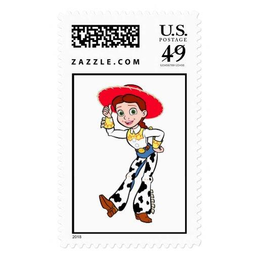 Saludo derecho de la vaquera de Toy Story Jesse Sello