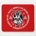Saludo dirigido cabra satánica Satan Baphomet Tapete De Ratones