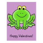 Saludo divertido de la rana del amor: El día de Sa Tarjeta Postal