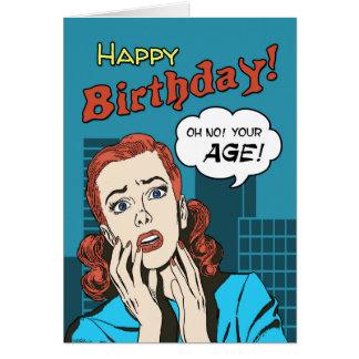 Saludo divertido del cumpleaños de la cubierta de tarjeta de felicitación