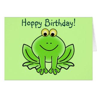 Saludo divertido del dibujo animado del cumpleaños tarjeta de felicitación