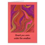 saludo en colores pastel del arte abstracto tarjeta de felicitación