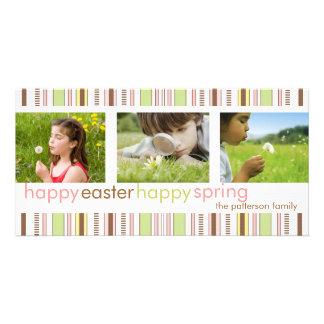 Saludo feliz feliz de la tarjeta de la foto de la  tarjeta con foto personalizada