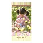 Saludo feliz feliz de la tarjeta de la foto de la  tarjeta personal con foto