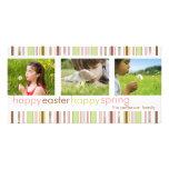 Saludo feliz feliz de la tarjeta de la foto de la  tarjeta personal