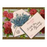 Saludo floral bonito postal