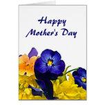 Saludo floral del día de madre tarjetón