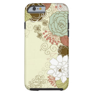 Saludo floral funda para iPhone 6 tough