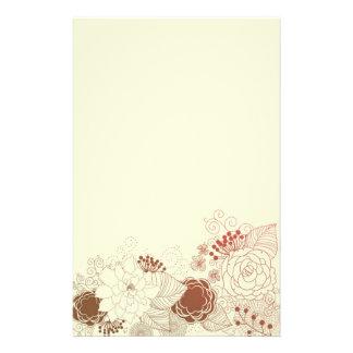 Saludo floral papeleria de diseño
