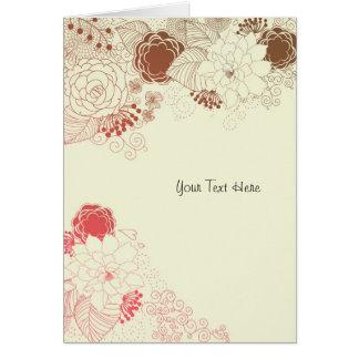 Saludo floral tarjeta de felicitación