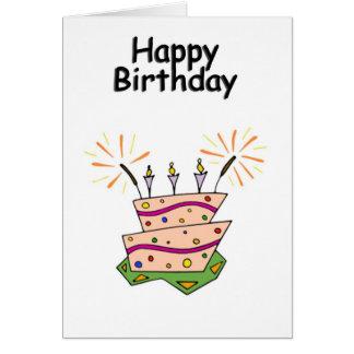 Saludo genérico del feliz cumpleaños tarjeta de felicitación