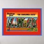 Saludo grande de la letra de Kansas Poster