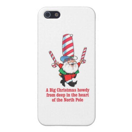 Saludo grande del día de fiesta del navidad del HU iPhone 5 Carcasas