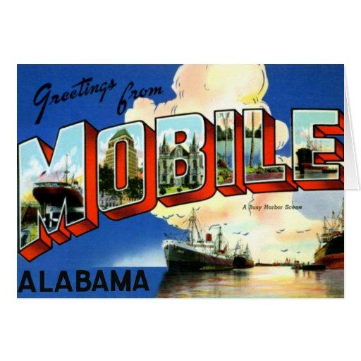 Saludo grande móvil de la letra de Alabama Tarjeta