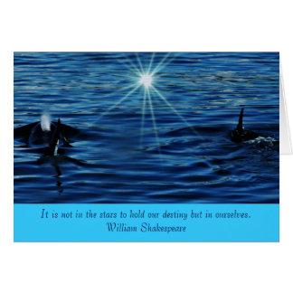 Saludo inspirado del mar de la luz de las tarjeta pequeña