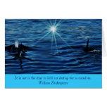 Saludo inspirado del mar de la luz de las tarjetón