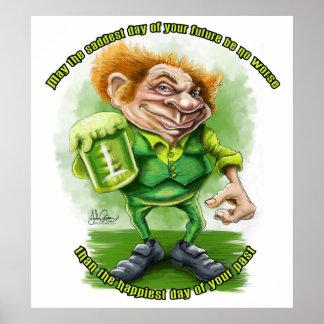 Saludo irlandés para el día de Patricks del santo Posters