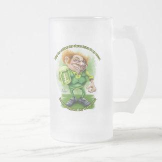 Saludo irlandés para el día de Patricks del santo Taza Cristal Mate