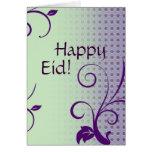Saludo islámico de Eid Mubarak Tarjeta
