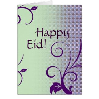 Saludo islámico de Eid Mubarak Tarjeta De Felicitación