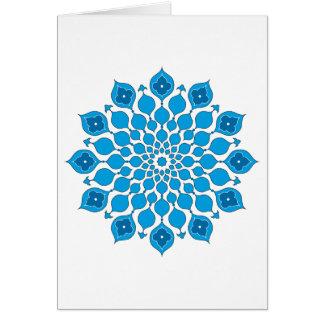 Saludo islámico de los ornamentos Tarjeta-azul