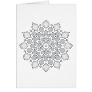 Saludo islámico de los ornamentos Tarjeta-gris