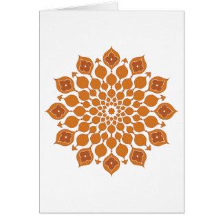 Saludo islámico de los ornamentos Tarjeta-marrón