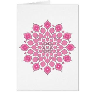 Saludo islámico de los ornamentos Tarjeta-rosado