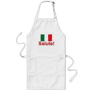 ¡Saludo italiano! (Alegrías!) Delantal Largo
