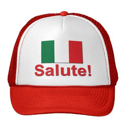 ¡Saludo italiano! (Alegrías!) Gorro De Camionero
